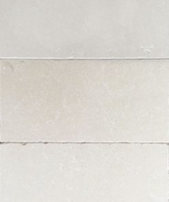White limestone tiles in rectangle size