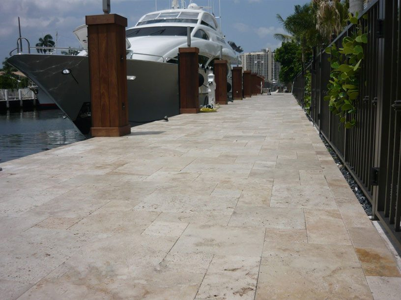 French pattern paving for public commercial project