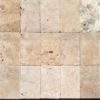 Rustic coloured travertine in a rectangle