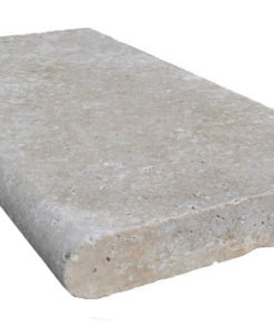 Rounded edge travertine pool paver