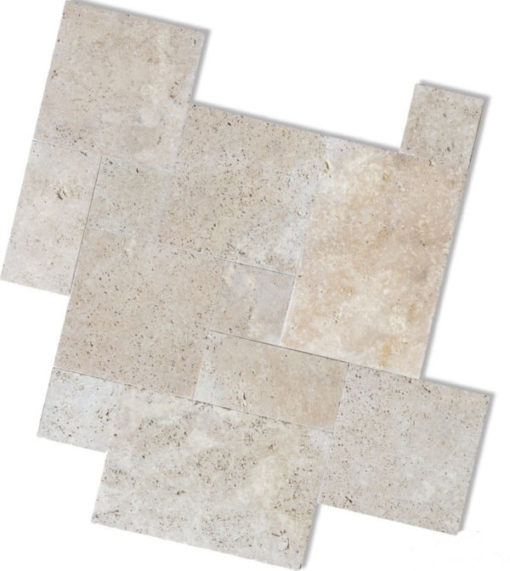 French Pattern Travertine in Cream Colour