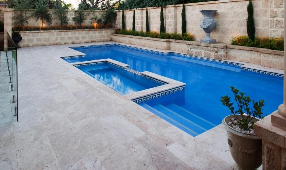tumbled pool coping paving