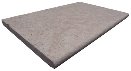 Brown Bullnose Pool Coping Tile bullnosed on the 610mm length