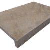Dropface pool coping tile in Noce brown