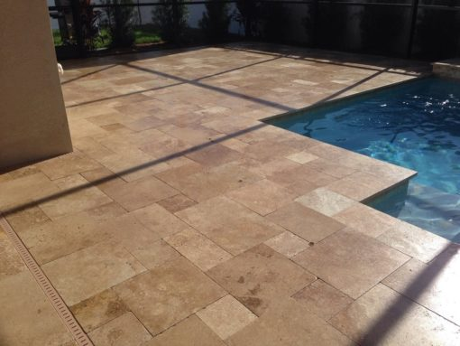 Brown French Pattern Paving