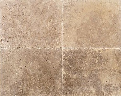 Rectangle travertine paving in a brown colour