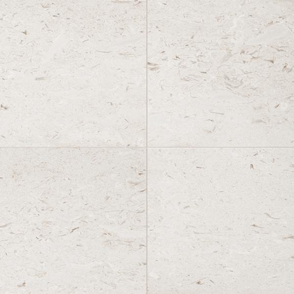 White Limestone Pavers with a shell fleck