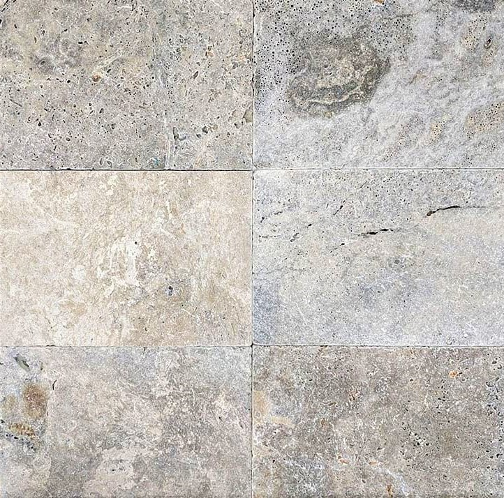 Oyster Silver Travertine Tiles