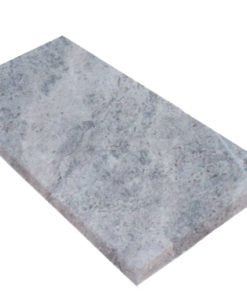 Square edge silver travertine coping tile