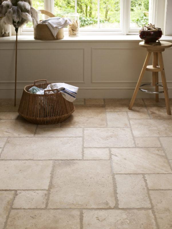 Internal Travertine paving on floor
