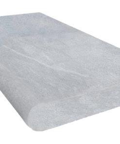Grey Limestone Bullnosed Coping Tile in a sandblasted grey finish