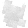Silver grey limestone french pattern paving