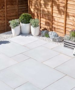 Smooth White Limestone French Pattern Paving