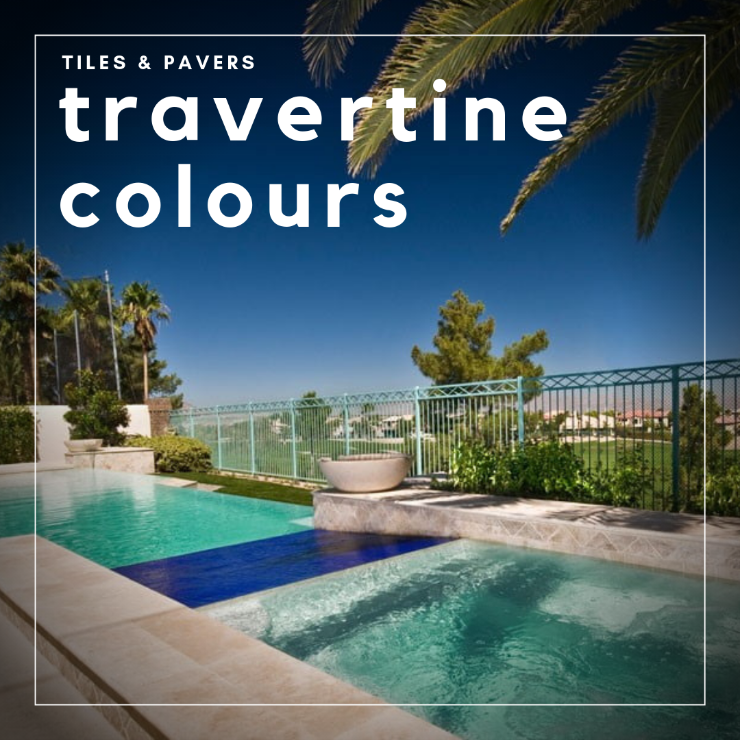 Travertine tiles and pavers colouring
